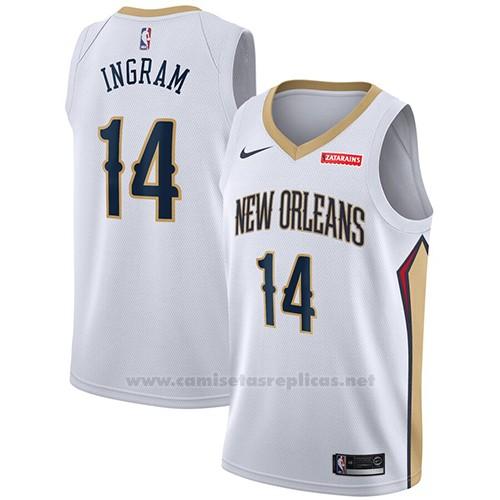 Camiseta New Orleans Pelicans Brandon Ingram NO 14 Association 2019-20 Blanco