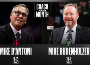 Mejor entrenador-Mike Budenholzer y Mike D'Antoni